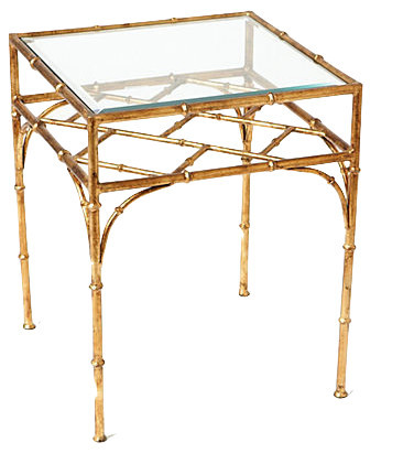 Bamboo Table, Antique Gold.