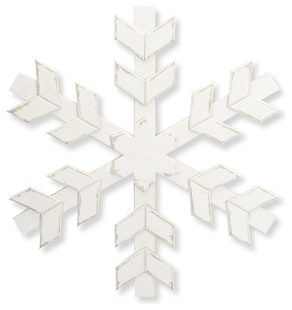 "20"" Snowflakes, Set Of 2."