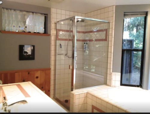 i need low budget ideas for our bathrooms remodel in the sierra nevada foothills please