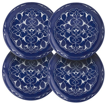 Mottahedeh alhambra canape plates set of 4 traditional for Canape plate sets