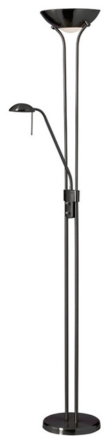 Mother And Son Floor Lamp, Matte Black.