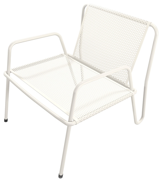 Charmant Altamira Perforated Stainless Steel Lounge Chair, White