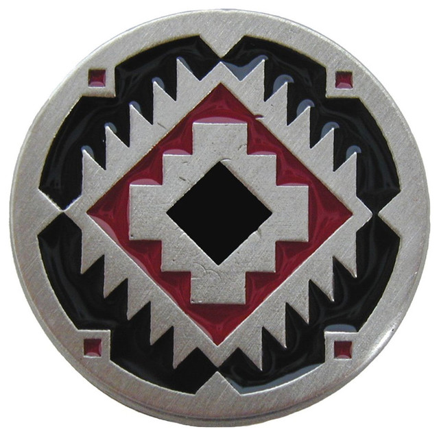 Southwest Treasure Knobs, Pewter With Red-Black - Southwestern ...