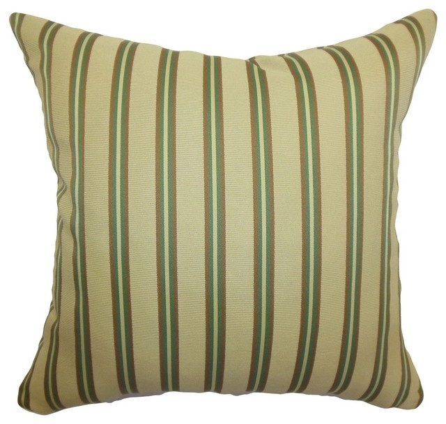 Decorative Pillows With Stripes : The Pillow Collection Inc. Harriet Stripes Pillow Gold - Decorative Pillows Houzz