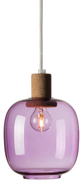 Enrico Zanolla Picia Pendant Lamp, Purple.