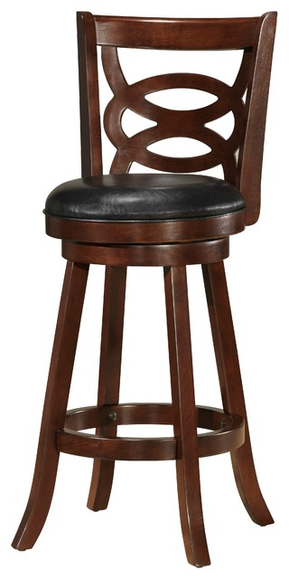 Evans 24 Counter Height Swivel Barstool Brown Traditional Bar