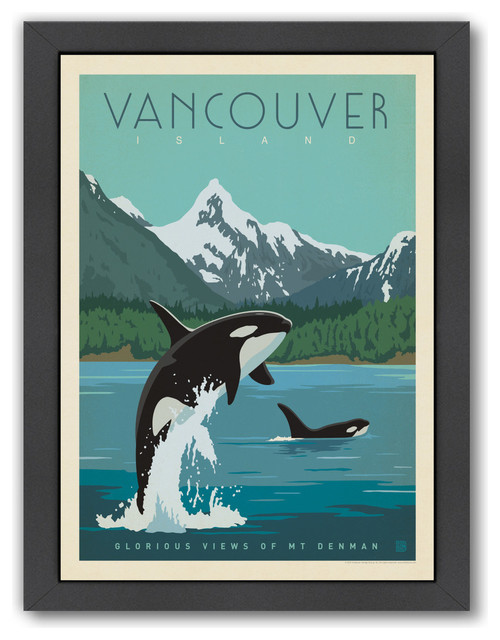 Quot Canada Vancouver Island Orcas Quot Beach Style Prints And