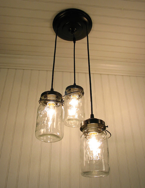 Vintage Canning Jar Chandelier by LampGoods - Eclectic - Pendant Lighting - by Etsy