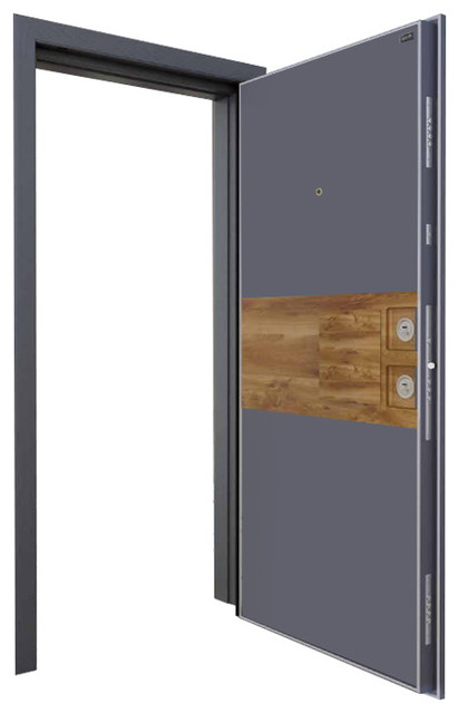 Sur Kupe Steel And Glass Security Door View In Your Room Houzz