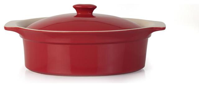 Geminis Oval Covered Baking Dish 3.25 Quart.