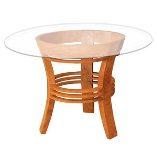 Chic Teak Waxed Teak Half Moon Dining Table Dining Tables Houzz