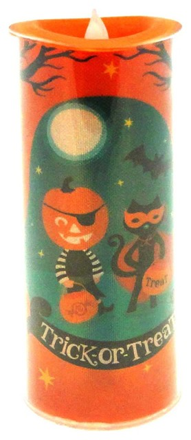 Halloween Trick Or Treat Led Shimmer Cand Acrylic 20111951.