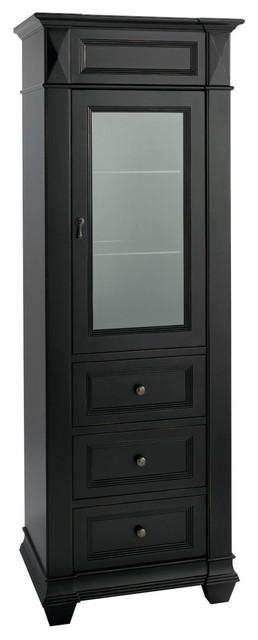 Torino Curio Cabinet, Antique Black - Contemporary - Bathroom Cabinets ...