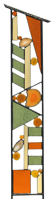 stained glass outdoor garden decoration, 'fall patterns