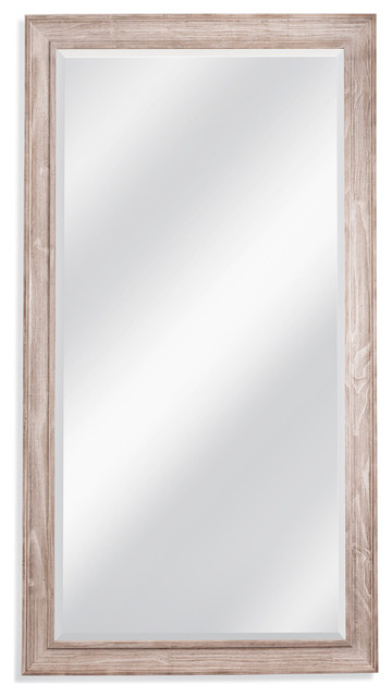 Kibbe Leaner Mirror, White Wash.