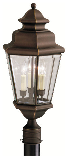 Kichler Lighting Savannah Estates 3-Light Outdoor Post Mount.