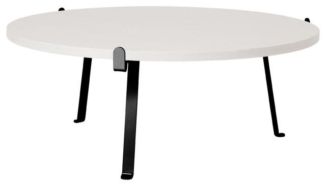Arch Oak Coffee Table, Signal White