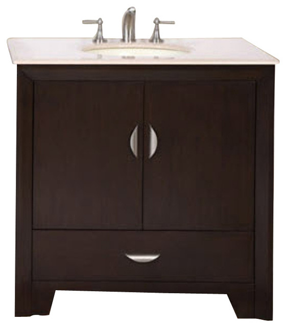 54 inch modern single sink bathroom vanity transitional bathroom vanities and sink consoles for Single sink consoles bathroom
