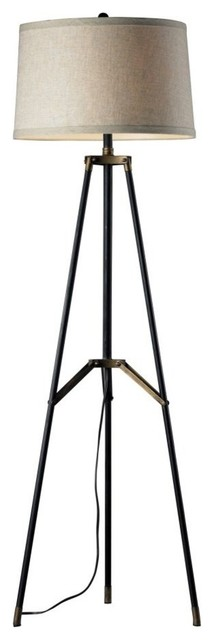 Adjustable Gooseneck Floor Lamp, Satin Chrome