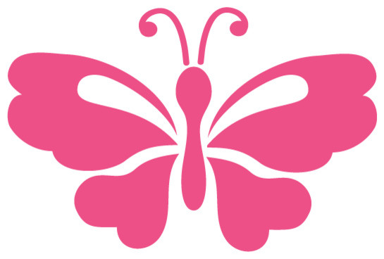 High Quality Garden Butterfly Stencil 4 For Painting Contemporary Wall Stencils