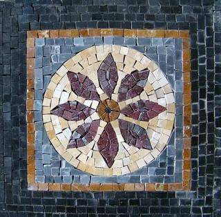 Rose Geometric Mosaic Mandala
