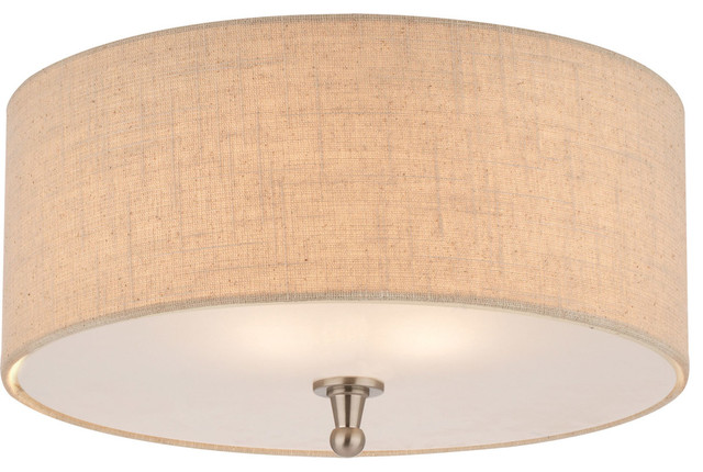 Allure 2-Light Flush Mounts, Brushed Nickel.