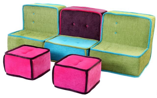 Allegra Colorfull Fabric Sofa