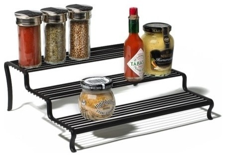Ashley Tiered Shelf Organizer - Black.