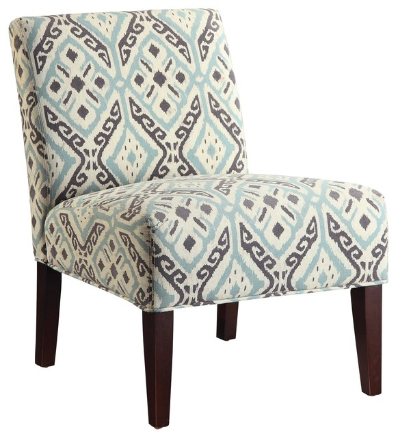 Magnificent Beige Black Fabric Upholstered Cushion Armless Accent Chair Seating Inzonedesignstudio Interior Chair Design Inzonedesignstudiocom