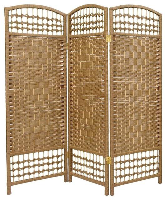 3 Panel Room Divider In Dark Natural Asian Screens And Room