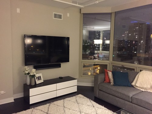 The space above a wall mounted tv ideas blank How high to mount tv on wall in living room