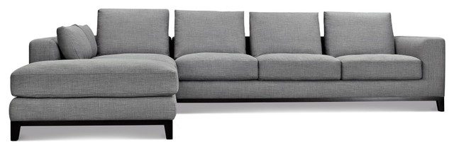 Kellan Sectional Sofa, Left Chaise, Gray Tweed
