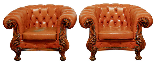 19th Century English Chesterfield Club Chairs