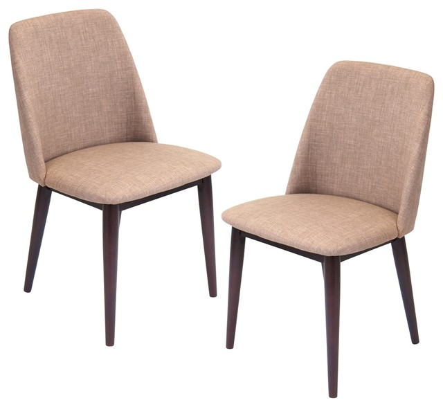 Lumisource Tintori Dining Chair, Brown/Espresso, Set Of 2  Transitional Dining