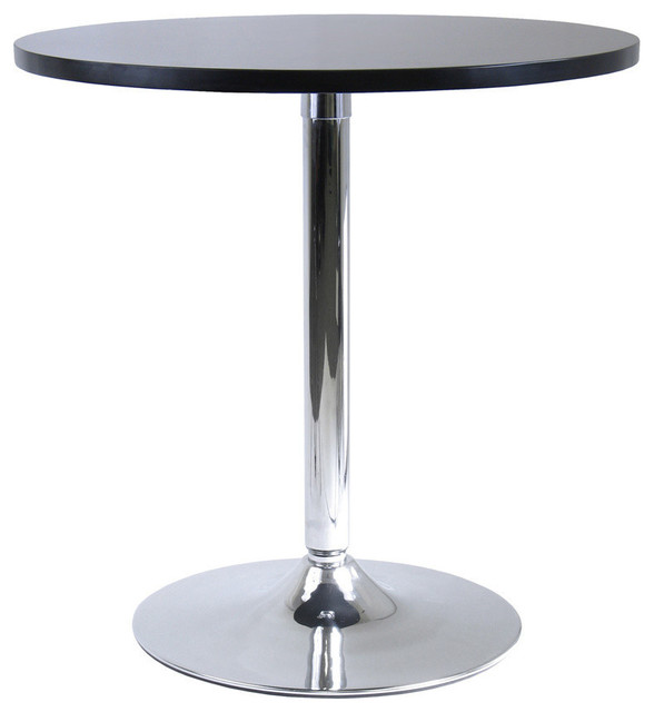 Metal spectrum round dinning table black contemporary dining tables by arcadian home - Steel kitchen tables ...