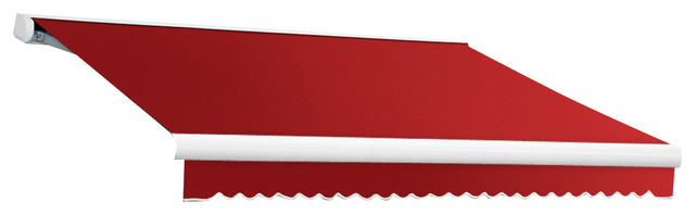 12&x27; Key West Cassette Manual Retractable Awning, Red.