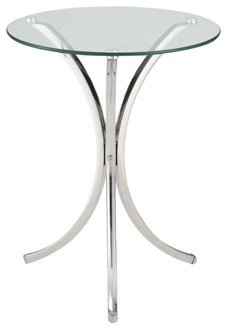 tempered glass accent table clear