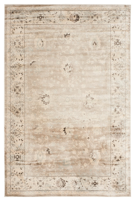 Safavieh denton vintage style rug light gray and ivory 9 for Farmhouse style kitchen rugs