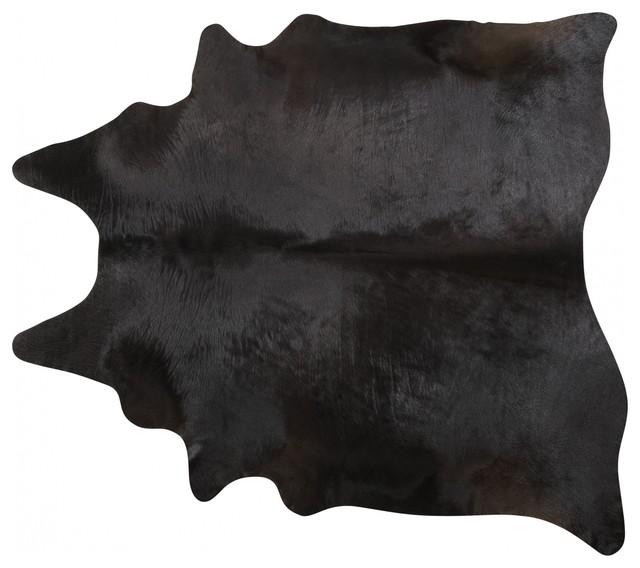 Pergamino Black Cowhide Rug, Extra Extra Large.