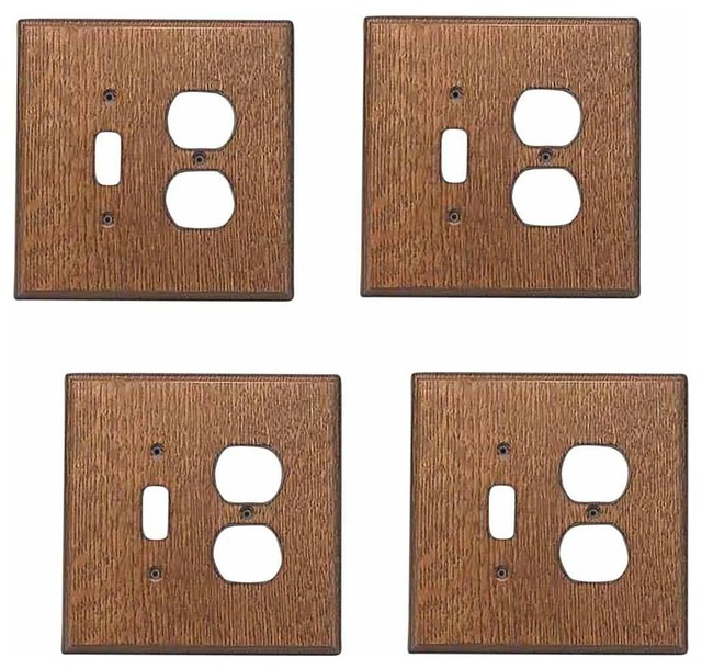 The renovator s supply inc switchplate oak toggle