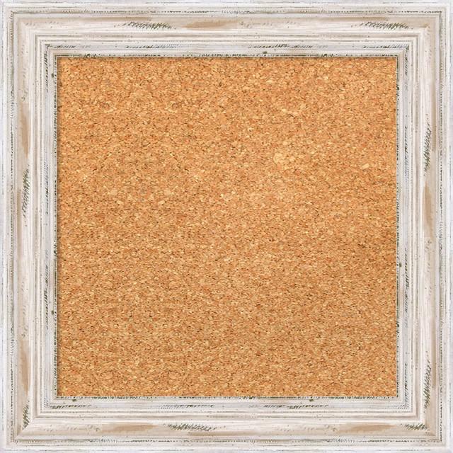 Framed Cork Board Small Large Alexandria Whitewash Wood