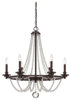 Savoy House 1 8351 6 Byanca 6 Light Single Tier Candle Style Chandelier Chandeliers