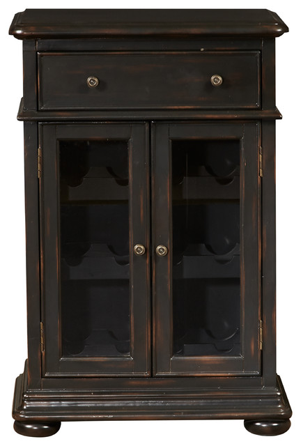 Double Door Wine Cabinet - Traditional - Accent Chests And ...