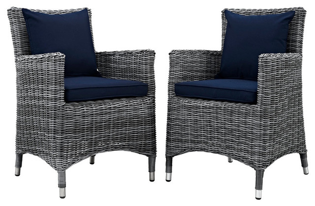 Summon Outdoor Patio Sunbrella Dining Chairs Set of 2  : tropical outdoor dining chairs from www.houzz.com size 640 x 420 jpeg 82kB