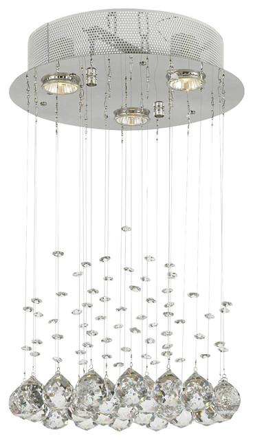 Modern Chandelier Rain Drop Crystal Ball Ceiling Lamp.