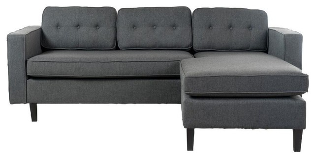 GDF Studio 2-Piece Windsor Mid Century Fabric Chaise Sectional Sofa ...