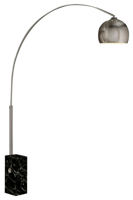 Sara Marble Floor Lamp Contemporary Floor Lamps By