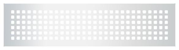 """Steel Grid Pattern Grille, Silver, 6""""x30""""."""