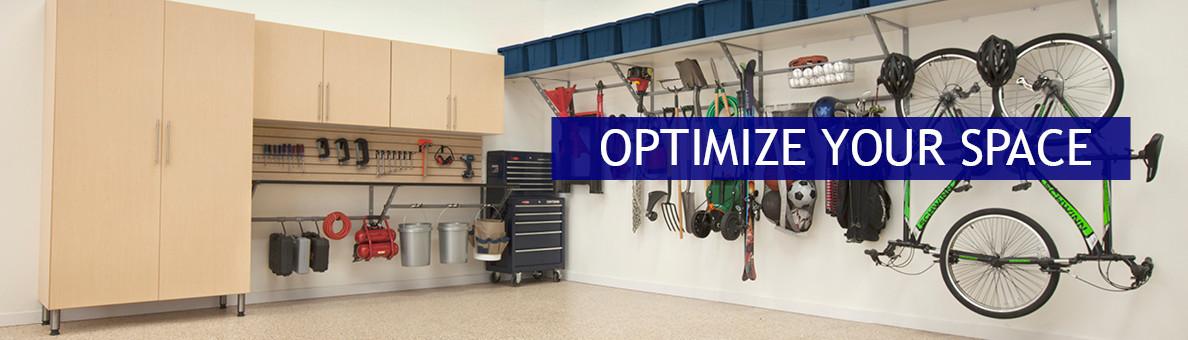 One Car Garage Storage Space Optimizing