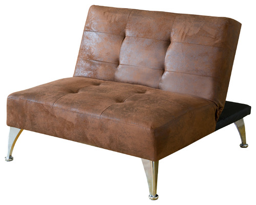 Lenny Fabric Convertible Accent Chair , Brown